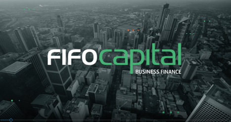 Fifo Logo over city Generic Video - Invoice Finance